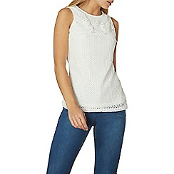 Dorothy Perkins - Ivory lace shell top