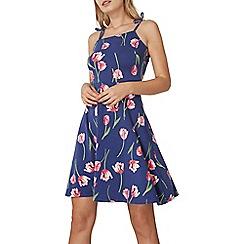 Dorothy Perkins - Blue and pink tulip print dress