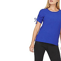 Dorothy Perkins - Cobalt blue ruched sleeves top