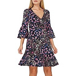 Dorothy Perkins - Multi coloured floral wrap front dress