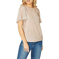 Dorothy Perkins - Gold glitter angel sleeves top