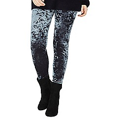 Dorothy Perkins - Grey crushed velvet leggings