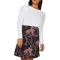 Dorothy Perkins - White gathered frill sleeves top