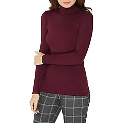 Dorothy Perkins - Wine viscose high neck top