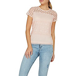 Dorothy Perkins - Pink lace panel top