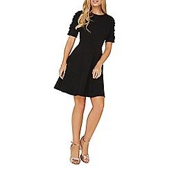 Dorothy Perkins - Black frill sleeves skater dress