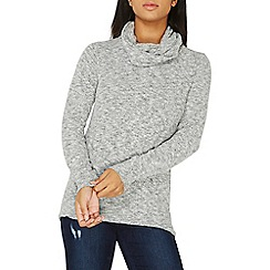 Dorothy Perkins - Grey cowl neck top
