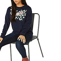 Dorothy Perkins - Navy embroidered sweat top