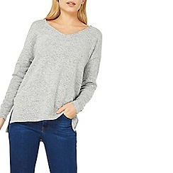 Dorothy Perkins - Grey v-neck slouchy top