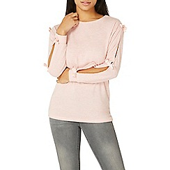 Dorothy Perkins - Light pink bow sleeve top