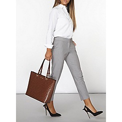 Dorothy Perkins - Silver side tab ankle grazer trousers