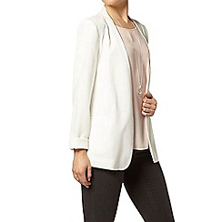 Dorothy Perkins - White collarless boyfriend jacket