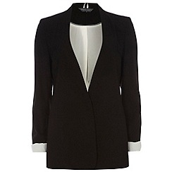 Dorothy Perkins - Tall black crepe boyfriend jacket