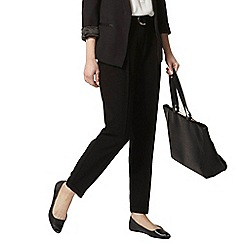 Dorothy Perkins - Black tie waist crepe peg trousers