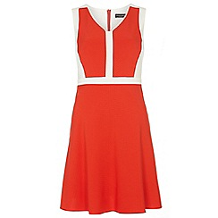 Dorothy Perkins - Tall orange and ivory skater