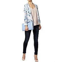 Dorothy Perkins - Blue floral waterfall jacket