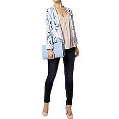 Dorothy Perkins - Blue floral waterfall jacket