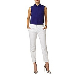 Dorothy Perkins - White cotton crop trouser