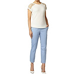 Dorothy Perkins - Blue cotton cropped trousers