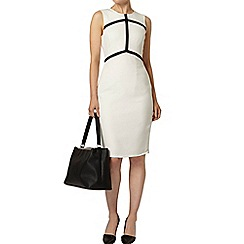 Dorothy Perkins - Ivory and black arrow taped pencil dress