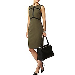 Dorothy Perkins - Khaki arrow taped pencil dress