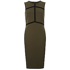 Dorothy Perkins - Tall khaki arrow taped bodycon dress