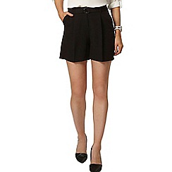 Dorothy Perkins - Black d-ring crepe short