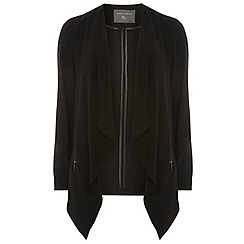 Dorothy Perkins - Tall black crepe zip waterfall jacket