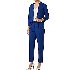 Dorothy Perkins - Blue crepe high waisted peg trouser
