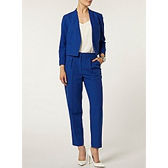 Dorothy Perkins - Blue crepe cropped tux jacket
