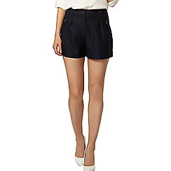 Dorothy Perkins - Navy textured zip short