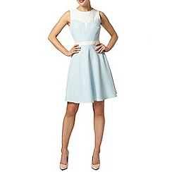 Dorothy Perkins - Blue sweetheart neck dress
