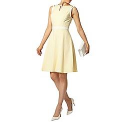Dorothy Perkins - Yellow cold shoulder dress