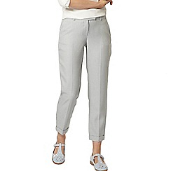 Dorothy Perkins - Ivory/grey dogtooth straight leg trousers