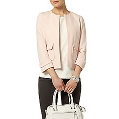 Dorothy Perkins - Blush crepe dome jacket