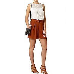 Dorothy Perkins - Ginger high waisted crepe short