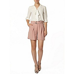 Dorothy Perkins - Pink high waist d-ring short