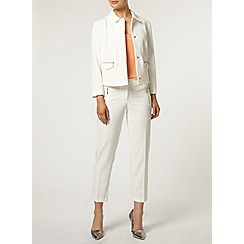 Dorothy Perkins - White textured western jacket