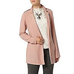 Dorothy Perkins - Pink tie waist blazer