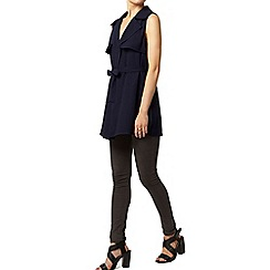 Dorothy Perkins - Navy sleeveless waterfall jacket