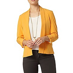 Dorothy Perkins - Yellow waterfall jacket with tab detail