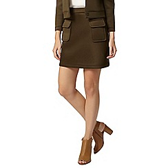 Dorothy Perkins - Khaki scuba mini skirt