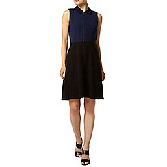 Dorothy Perkins - Navy zip collar dress