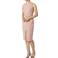 Dorothy Perkins - Pink crepe belted pencil dress