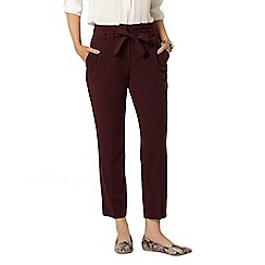 Dorothy Perkins - Purple tie waist tapered trouser