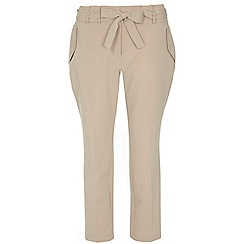 Dorothy Perkins - Stone tie waist tapered trousers