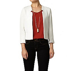 Dorothy Perkins - White textured notch jacket