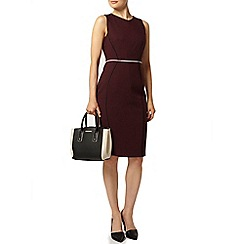 Dorothy Perkins - Purple v-neck pencil dress