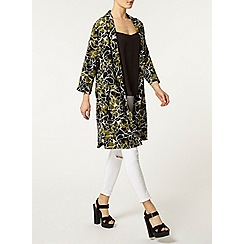 Dorothy Perkins - Khaki printed duster coat