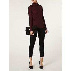 Dorothy Perkins - Black zip capri skinny trousers